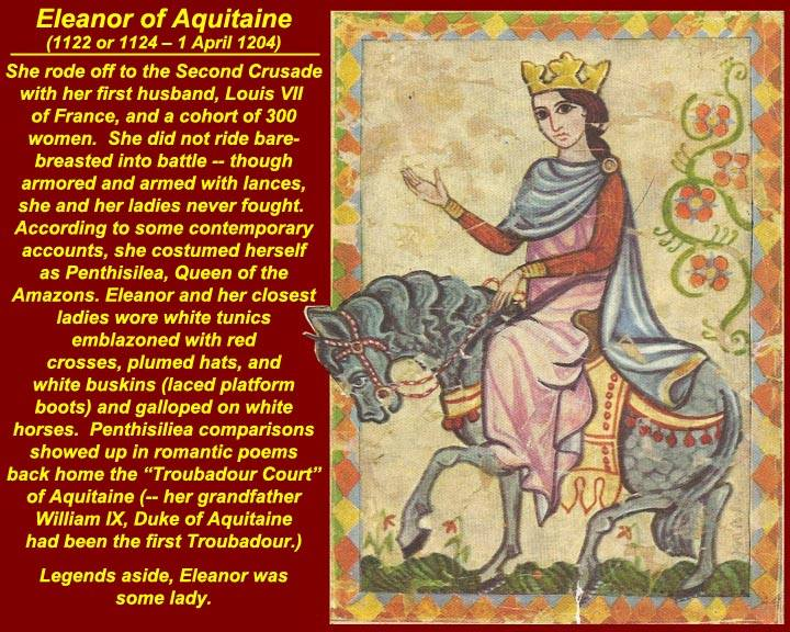 a research on eleanor of aquitaine Eleanor of aquitaine was without a doubt the most colorful woman of her time, considered by many to have been the most powerful and enlightened woman of her age.